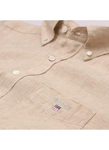 Gant Düz Regular Gömlek Bej